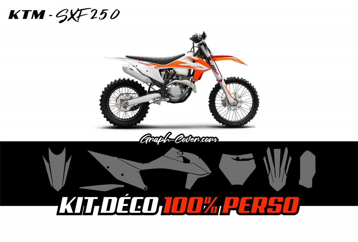 100% CUSTOM GRAPHIC KIT DIRT BIKE KTM SXF 250 full