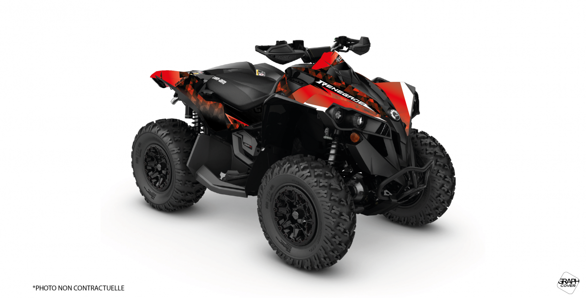Can Am 1000 >> Graphic Kit Atv Masai Can Am Renegade 1000 Red Full Graphcover
