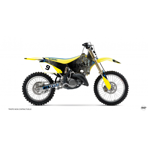 graphic kit dirt bike suzuki 125 rm - graphcover