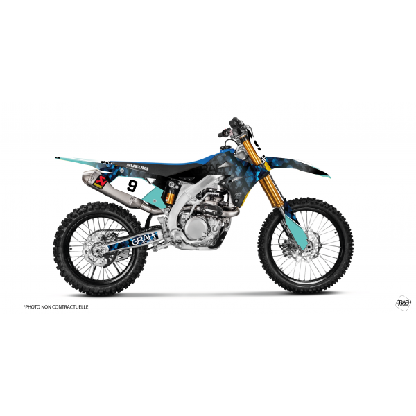 graphic kit dirt bike suzuki 450 rmz - graphcover