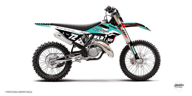 graphic kit dirt bike ktm sxf 450 nymo turquoise - graphcover